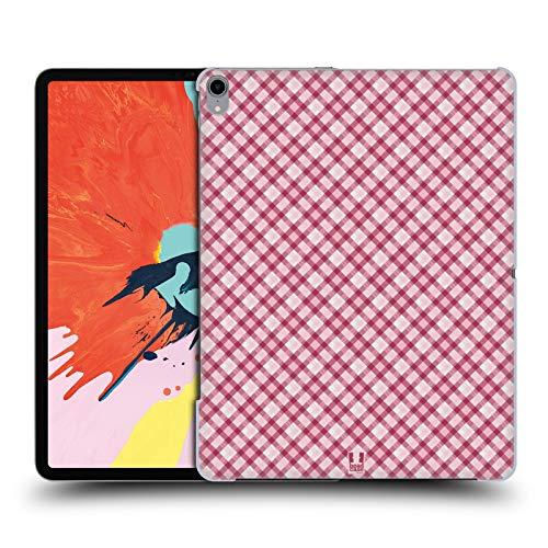 Head Case Designs Hot Pink Plaid - Muster Kollektion Harte Rueckseiten Huelle kompatibel mit iPad Pro 12.9 (2018) Hot Pink Plaid Design