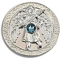 Engeltaler Michael Schutzengel Talisman versilbert mit Kristall, Ø 27mm, Glücksbringer Glücksmünze Engel preisvergleich bei billige-tabletten.eu
