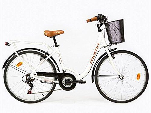 Moma-Bicicleta-Paseo-Citybike-SHIMANO-Aluminio-18-velocidades-ruedas-de-26-color-blanco