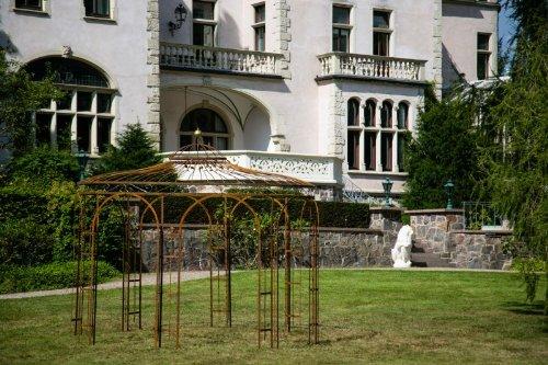 KUHEIGA Stabiler Gartenpavillon aus Metall, ROST 350cm, Pavillon