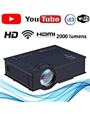 Latest Nishica 2019 Edition unic UC46 Mini Full hd LED WiFi Projector 2000 lumi HDMI Airplay DLAN with New User Interference