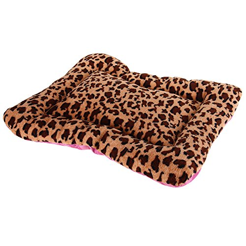 hundeinfo24.de FACILLA® Haustierbett Katzen Hunde Hundekissen Hundematte Hundebett Leopardenmuster Weich