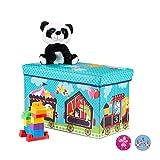 Relaxdays Caja de Asiento para niños, Plegable, con Espacio