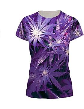 Jiayiqi Unisex Funky Camiseta Impresión Digital 3D Gráfica Manga Corta Camisetas
