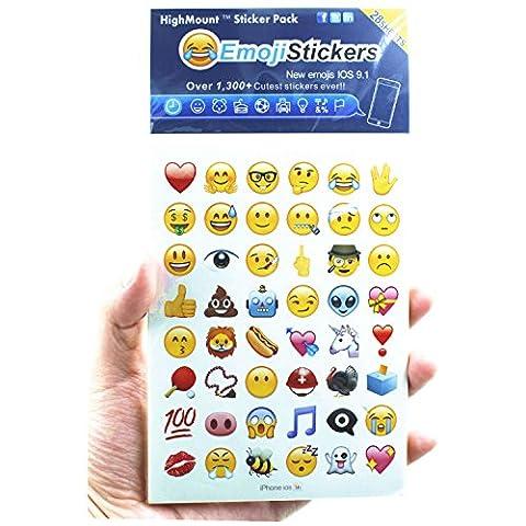 Emoji Autocollants 28 feuilles avec des visages heureux Autocollants pour enfants de l