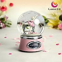 GDS giorno di San Valentino regali ragazze Ballet rotazione sfera di cristallo Music Box Music Box
