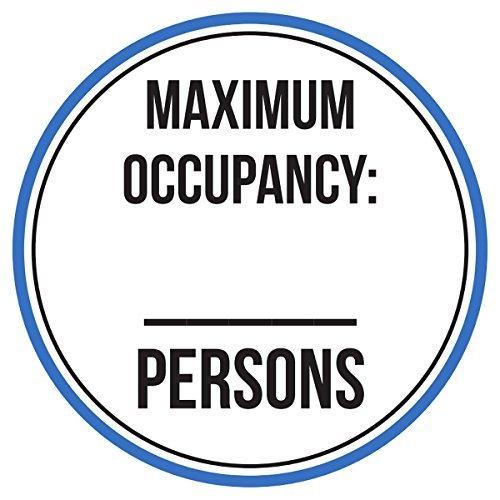 Maureen52Dorothy Belegung Maximal -Persons Pool Spa Warnschilder Sticker Funny gewerblichen Safety Signs Aufkleber Rund Vinyl Schild Aufkleber 22,9x 22,9cm