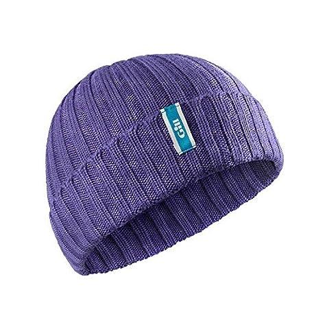 Gill Wide Knit Beanie in Purple HT33