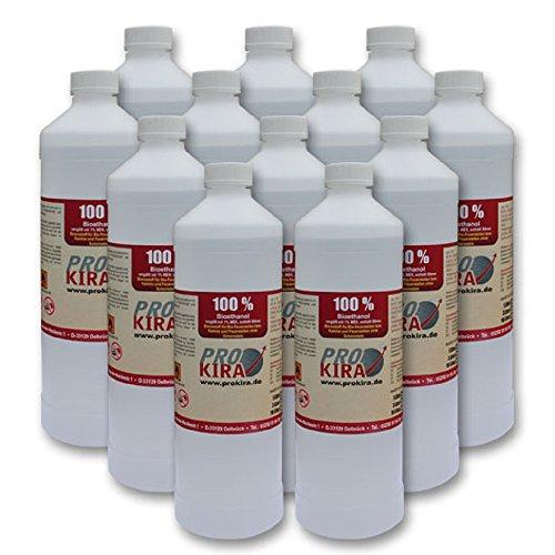 12x 1l bioetanol/bio etanol 100% Alcohol para gel y etanol chimeneas. gastos...