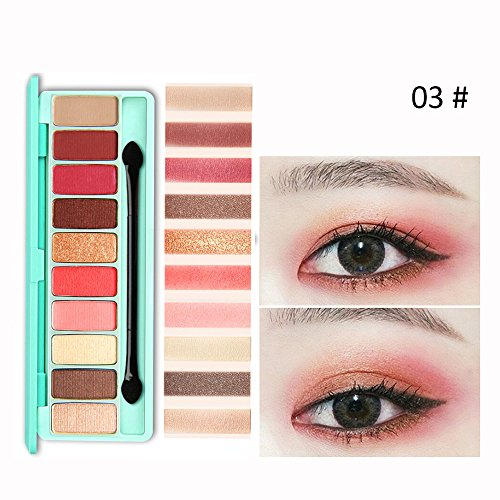 ReooLy10 Farben-kosmetische Puder-rauchige Lidschatten-Palette Verfassung einstellten Matt erhältlich -
