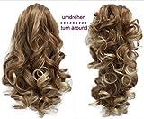 PRETTYSHOP 2 IN 1 Haarteil Pferdeschwanz Zopf Haarverlängerung Haarverdichtung ca 40cm und 50 cm blondmix #27T613 H3-2