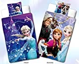 Disney Frozen Kinder Wende-Bettwäsche - 135 cm x 200 cm + 80 cm x 80 cm - Die Eiskönigin - Völlig unverfroren