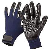 IW.HLMF Silikon pet Pinsel handschuh deshedding sanfte effiziente Pflege cat handschuh Hund Bad pet reinigungsmittel zubehör,Blue