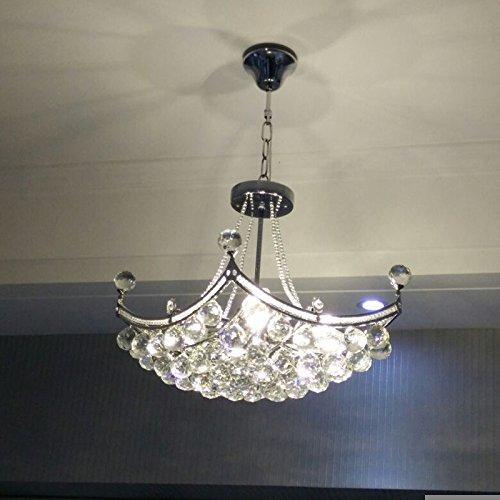 KUAIDUUD minimalista LED lampadari ristorante soggiorno lampadari di cristallo foyer camera da letto negozi lampade da soffitto , / argento lungo 78* ampia 48cm