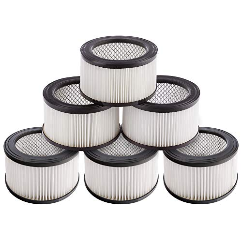 Arebos 6 x Hepa Filter Ersatzfilter Aschesauger Kaminsauger