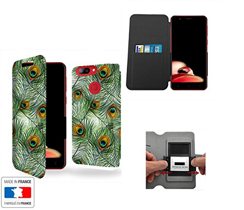 Case Industry Innovative Plumes Pattern with Peacock Feathers Collection Pattern Elephone P8 Mini 4G Schutzhülle mit internen Speicher Tür-Karte - Elephone P8 Mini 4G Mini Plume