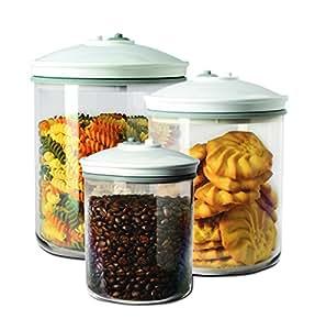FoodSaver 3 Barattoli Tondi per Sigillatrice per Sottovuoto