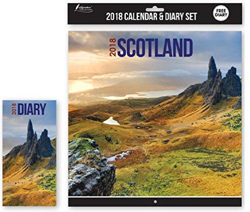 2018Kalender & Tagebuch Set Schottland Weihnachten Geburtstag Geschenk quadratisch Home Office Schottische Landschaften Szenen Scenic Scenery Gebäude (Wichtige Gebäude)