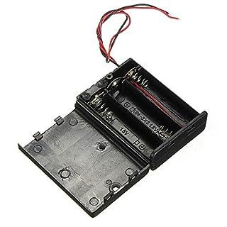 3 X AA-Batterie-Halter-Kasten Geschlossenen Box OFF / ON-Schalter mit Leitungen