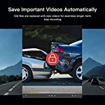 APEMAN Dual Lens Dash Cam for Cars Front and Rear with Night Vision and SD Card Included, 1080P FHD Mini Car Camera, 170°Wide Angle Driving Recorder with G-Sensor, Parking Monitor, Loop Recording, WDR 15