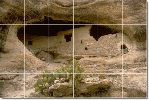 DESIERTOS AMSTRONG BAñO AZULEJO MURAL 24  17 X 64 77 CM CON (24) 4 25 X 4 25 AZULEJOS DE CERAMICA
