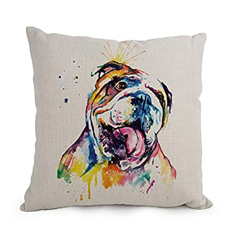 Beautifulseason Pillow Shams Of Dog Art WaterColor,for Study Room,couch,festival,monther,saloon,wife 18 X 18 Inches / 45 By 45 Cm(2