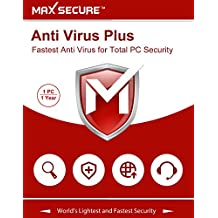 Max Secure Software Anti Virus Plus Version 6 - 1 PCs, 1 Years (Email Delivery in 2 Hours - No CD)