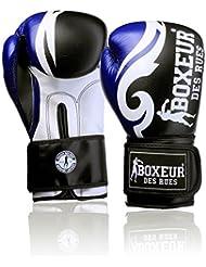Boxeur Des Rues Fight Activewear Guantes de boxeo con logotipo y estampado tribal azul turquesa Talla:16 OZ