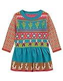 Oilily Türkise Kleid für Mädchen YF18GDR071