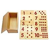 Backbayia Montessori Mathematik 1-10 Nummer Puzzles Zahlen Lehrspiel Spielzeug für Kinder