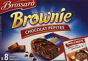 Brossard brownie p pites de chocolat 8 sachets de 30 g for Papeterie brossard