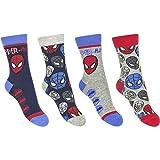 4er Set Spiderman Marvel Kinder Socken Strümpfe für Jungen Gr. 27-34 (31-34)