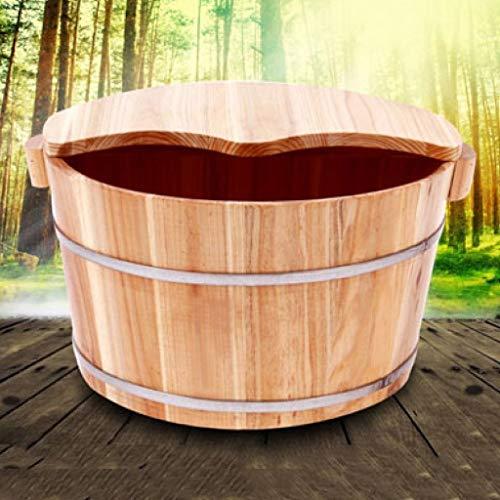 X_love Pediküre Bowl Fußbad Fußbad Barrel Fußbad Barrel Fußbad Fußbad Fußwanne Fuß Waschbecken Mit Massage Paket Deckel Badewanne Holz Fußbecken, (größe : G:25cm) (Fuß-waschbecken)