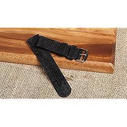 WatchAssassin Nylon/Fabric Watch Strap (Black/Green/Brown) 20 22 24 26mm