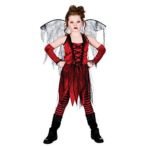 (XL) Mädchen VAMPIRE Fairy Halloween Kostüm für Fancy Kleid Kinder, die Kids Kinder Extra große Alter 11–13