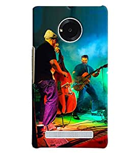 Blue Throat Singer Playing Guitar Hard Plastic Printed Back Cover/Case For Micromax Yu Yuphoria