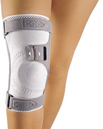 Bort Asymmetric® Plus Kniebandage, silber XXXL plus links
