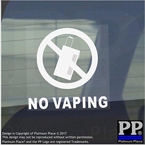 6x keine vaping-internal-with Text, externe selbstklebend ACHTUNG stickers-bottle logo-health und Sicherheit Zeichen, weiß, klar, VAPE, Saft, Coil, Maschine