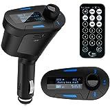 Generic M30 Kit de Lecteur MP3 + Clé USB sans fil + Télécommande pour Voiture Bleu