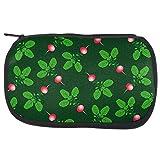 Old Glory Gemüse Rettich Radieschen Wiederholungsmuster Make-up Tasche Grün eine Standardgröße