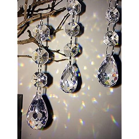 googdirect Tenda con perline, ciondolo in cristallo acrilico decorazione albero
