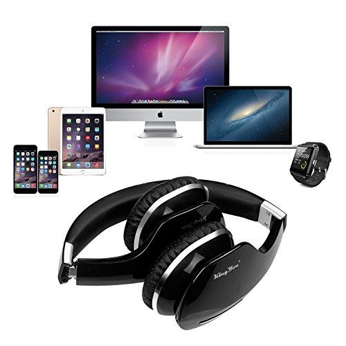 Kingyou Bluetooth Kopfhörer Funk Für Fernseher On Ear Kopfhoerer Kabellos (HD007 Schwarz) - 6