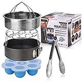 Steamer Basket Set for Instant Pot-Fits 5,6,8Qt Instant pot Pressure Cooker,5-Pcs with Steamer