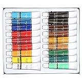 La vernice acrilica 12ml ha regolato i pigmenti ricchi non tossici di qualità Colori grande per i bambini Adulti Kit di pittura mano fai da te professionale(#2)