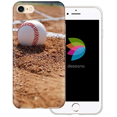 dessana Baseball Transparente Schutzhülle Handy Case Cover Tasche für Apple iPhone 8 Pitcher Ball Mlb Baseball-handy