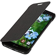 kwmobile Funda para LG G2 Mini - Flip cover para móvil - Cover plegable en negro
