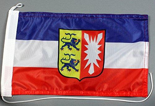 Buddel-Bini Bootsflagge Schleswig Holstein 20 x 30 cm in Profiqualität Flagge Motorradflagge