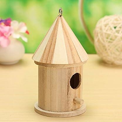 Dreammy New Wooden Bird House Birdhouse Hanging Nesting Box Hook Home Garden Decor 6