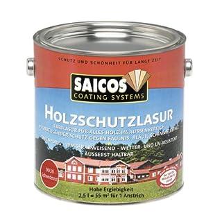 Saicos 0030 501 Holzschutzlasur schwedenrot 2.5 Liter