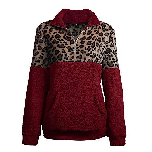 Boutique sale 2019 Herbst und Winter Neuer Langarm-Pullover Leopard Stitching Double-Faced Velvet Shirt Herbst und Winter Neuer Langarm-Pullover Leopard Langarm-Pullover